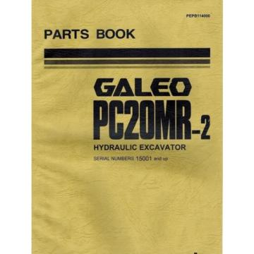 "KOMATSU GALEO PC20MR-2 HYDRAULIC EXCAVATOR  MANUAL ""NEW"" PEPB114000"