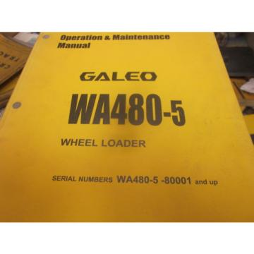 Komatsu WA480-5 Wheel Loader Operation & Maintenance Manual S/N 80001 & Up