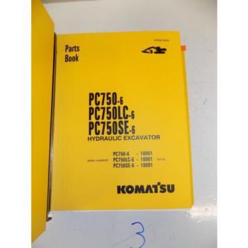 Komatsu PC750 PC 750 LC SE -6 PARTS BOOK MANUAL CATALOG EXCAVATOR HYDRAULIC