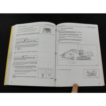 Komatsu excavator operators owner users manual PC300LC-6 PC300HD-6 CEAM3006C1