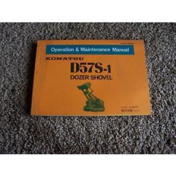 Komatsu D57S-1 Dozer Shovel D57S-8188- Owner Owner's Operation Manual
