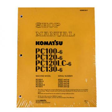 Komatsu Service PC120LC-6, PC130-6 Shop Manual NEW
