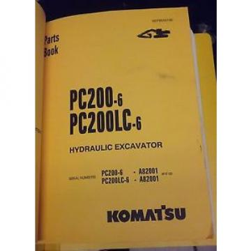 PARTS MANUAL FOR PC200LC-6 SERIAL A82001 AND UP KOMATSU CRAWLER EXCAVATOR