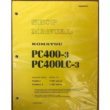 KOMATSU PC400-3 Excavator Crawler Shop Repair Manual Guide Book OEM Owners