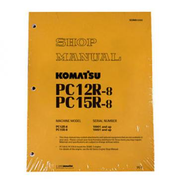 Komatsu Service PC12R-8, PC15R-8 Shop Manual NEW