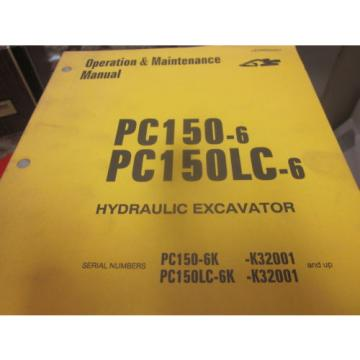 Komatsu PC150-6 PC150LC-6 Hydraulic Excavator Operation & Maintenance Manual