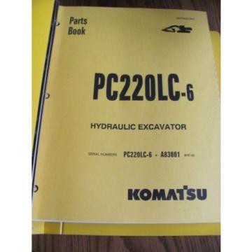 KOMATSU HYDRAULIC EXCAVATOR PARTS BOOK PC220LC-6 A83001 BEPB001901