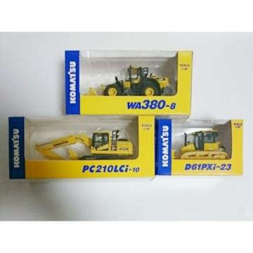 KOMATSU 1:87 / WA380-8 WHEEL LOADER / PC210LCi-10 EXCAVATOR / D61PXi-23 3set New