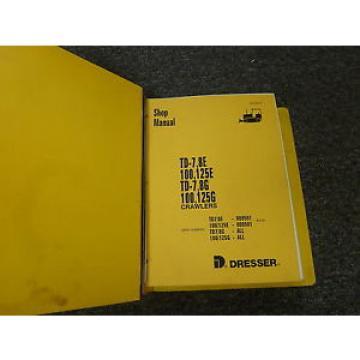 Komatsu TD7E TD8E TD7G TD8G Crawler Loader Dozer Shop Repair Service Manual