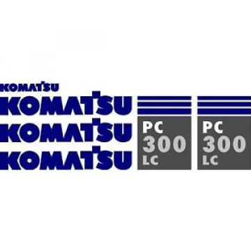 Komatsu PC 300 LC Excavator Decal Set
