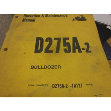 Komatsu D275A-2 Bulldozer Operation & Maintenance Manual