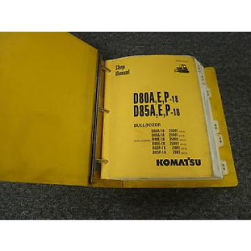 Komatsu D85E-18 D80P-18 D85P-18 Bulldozer Dozer Shop Service Repair Manual