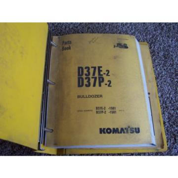 Komatsu D37E-2 D37P-2 1501- Bulldozer Dozer Factory Parts Catalog Manual Manual