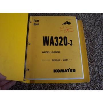 Komatsu WA320-3 Wheel Loader WA320-3LE A30001- Factory Parts Catalog Manual