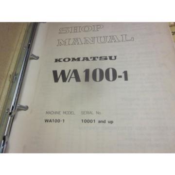 Komatsu WA100-1 Wheel Loader Service Repair Manual
