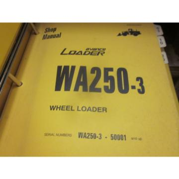 Komatsu WA250-3 Wheel Loader Repair Shop Manual