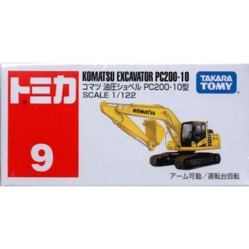 Takara Tomy Tomica #9 Komatsu Excavator PC200-10 1/122 Diecast Toy Car JAPAN
