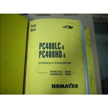 Komatsu Parts PC400LC-6, PC400HD-6 Hydraulic Excavator