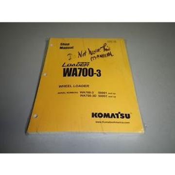 New Genuine Komatsu WA700-3 Wheel Loader Repair Shop Service Manual
