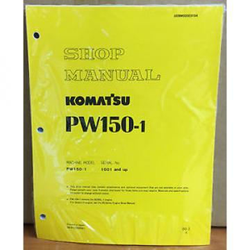 Komatsu Service PW150-1 Excavator Shop Manual NEW REPAIR