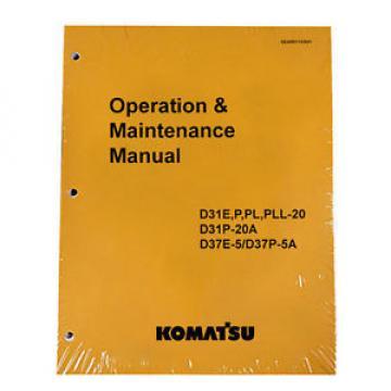 Komatsu D31E-20 Dozer Operation & Maintenance Manual
