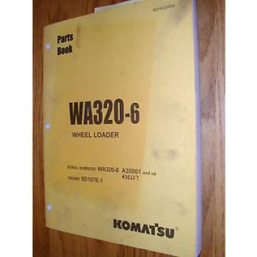 Komatsu WA320-6 PARTS MANUAL BOOK CATALOG WHEEL LOADER BEPB024800 GUIDE LIST
