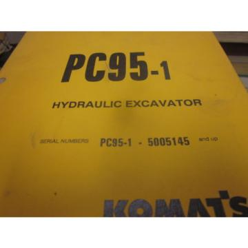 Komatsu PC95-1 Hydraulic Excavator Operation & Maintenance Manual