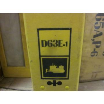 Komatsu D63E-1 Bulldozer Repair Shop Manual