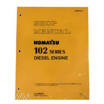 Komatsu Engine 6D102E-1, 6D102E-2 102 Service Manual