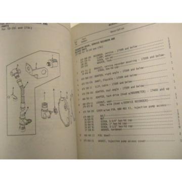 KOMATSU DRESSER DT-414 414B 466 466B 466C DTI466C PARTS BOOK MANUAL 1986