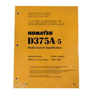 Komatsu D375A-5 Radio-Control Specification Service Printed Manual