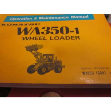 Komatsu WA350-1 Wheel Loader Operation & Maintenance Manual 10001-Up