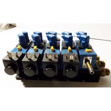1 Canada Greece USED REXROTH 898-500-391-2 PNEUMATIC MANIFOLD W/ 572 745 SOLENOID VALVE ASSY