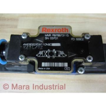 Rexroth Singapore Canada Bosch R978873115 Valve 4WE6E62/EW110N9D - New No Box