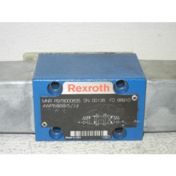 REXROTH Greece Italy R978000835 USED DIRECTIONAL VALVE R978000835