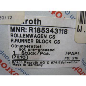 Bosch Japan Dutch Rexroth R185343118 Ball Roller Rail Runner Block Linear Bearing Carriage