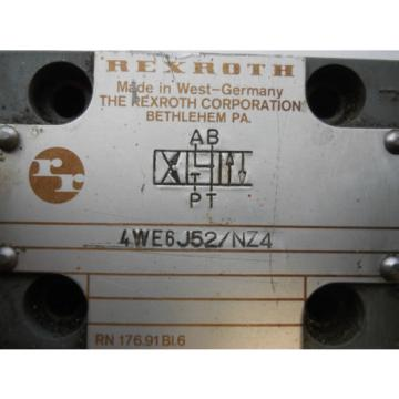 LOT Italy Russia OF FOUR REXROTH CONTROL VALVES 4WE6J52/NZ4