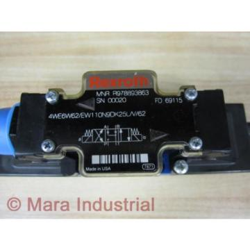 Rexroth Russia Greece Bosch R978893863 Valve 4WE6W62/EW110N9DK25L/V/62 - New No Box