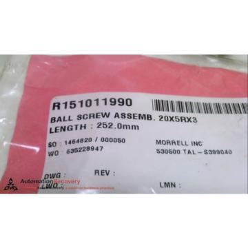 REXROTH Dutch china R151011990, BALL SCREW ASSEMBLY, LENGTH: 252 MM,, NEW* #226206