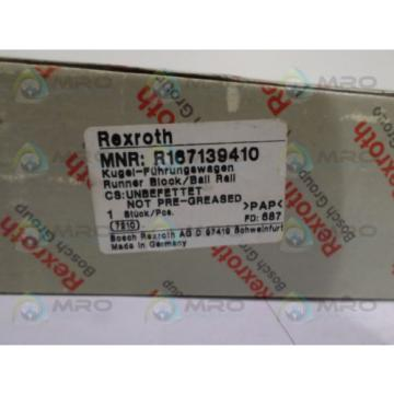 REXROTH Japan china R167139410 BALL CARRIAGE RUNNER BLOCK *NEW IN BOX*