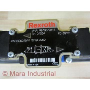 Rexroth Korea France Bosch R978872815 Valve 4WE6G62/EW110N9DA/62 - New No Box
