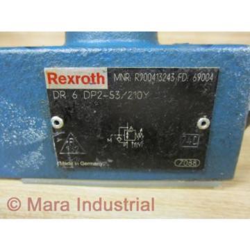 Rexroth Russia Singapore Bosch R900413243 Valve DR 6 DP2-53/210Y - New No Box