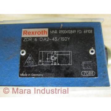 Rexroth Russia Korea Bosch R900410849 Valve ZDR 6 DA2-43/150Y - New No Box