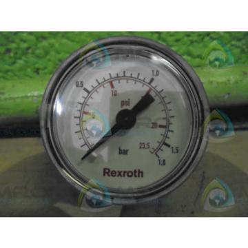 REXROTH Germany Italy 41301662921 PRESSURE GAUGE *NEW NO BOX*