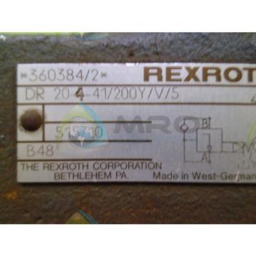 REXROTH Canada Australia DR 204-41/200Y HYDRAULIC VALVE *USED*