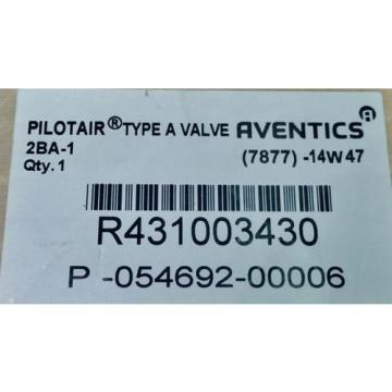 "Rexroth Greece India 2-BA-1 Push Button Operated 1/4"" Pneumatic Valve R431003430 P54692-6"