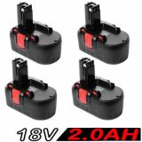 4x 18V 2.0AH Battery For Bosch BAT025 BAT160 2607335536 2607335278 PSR 18VE