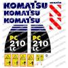 KOMATSU PC210LC -8 DIGGER DECAL STICKER SET