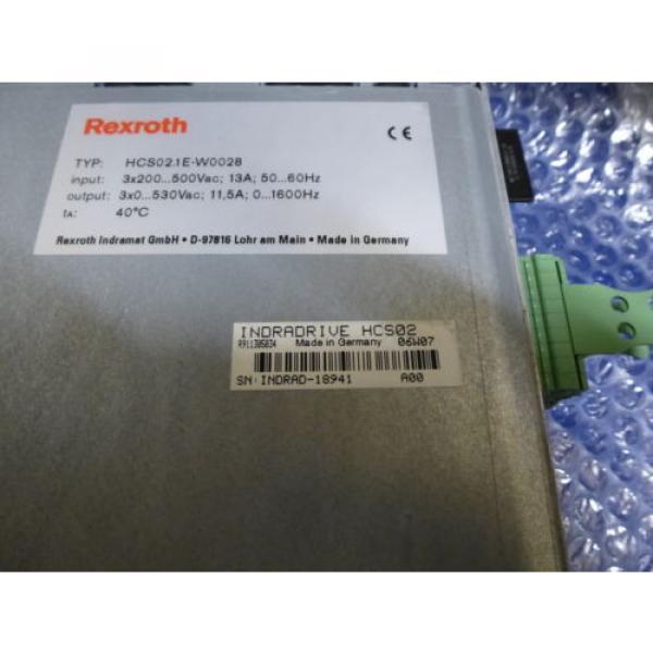 Bosch Canada France Rexroth Indramat HCS02.1E-W0028 mit Speicherkarte #8 image