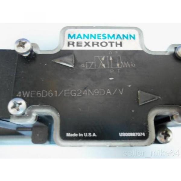 MANNESMANN Germany France REXROTH 4WE6D61/EG24N9DA/V 24 VDC HYDRAULIC VALVE #2 image
